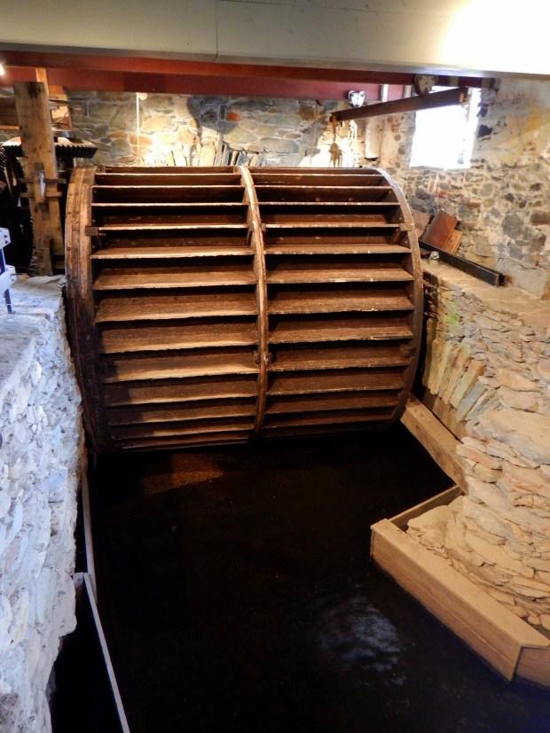 Water wheel, Wilkinson Mill, Slater Mill Historic Site, Pawtucket, Rhode Island