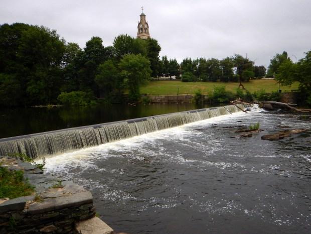 Blackstone River from Slater Mill Historic Site, Pawtucket, Rhode Island