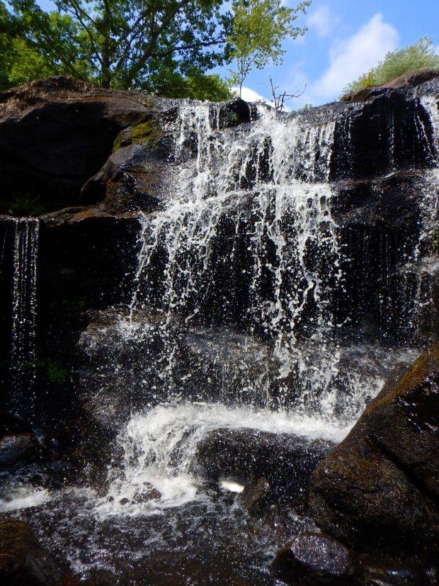 Under Chapman Falls, Devil's Hopyard State Park, Connecticut