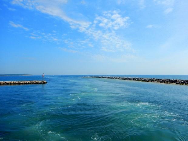 Ferry docking, Block Island, Rhode Island