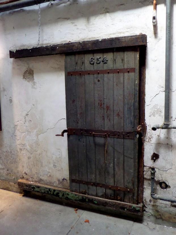 Door on cell 654 of oldest cell block, Eastern State Penitentiary, Philadelphia, Pennsylvania