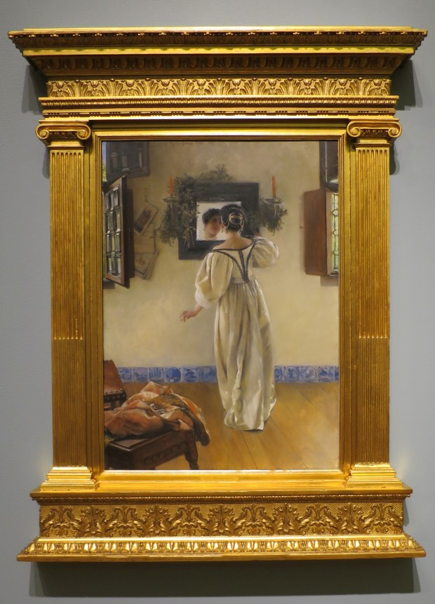 A Knock at the Door, Laura Alma-Tadema, 1897, Currier Museum of Art, Manchester, New Hampshire
