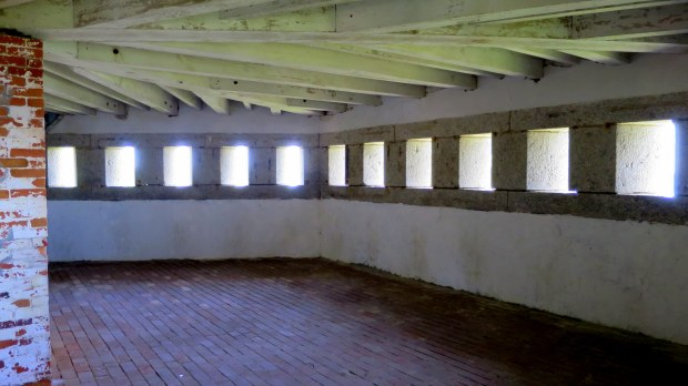 Basement of blockhouse, Fort McClary, Kittery Point, Maine