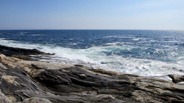 Atlantic Ocean from Pemaquid Point Lighthouse, Maine