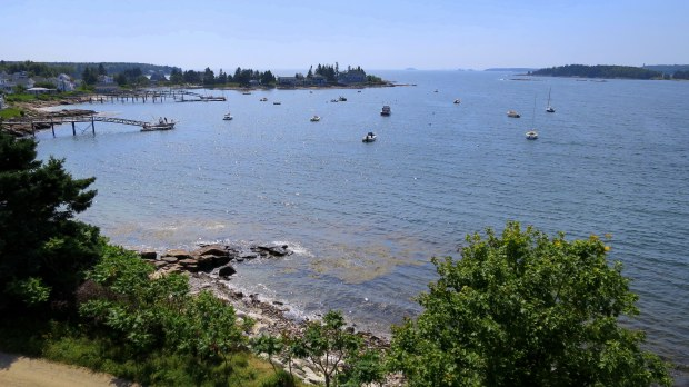 View of the bay from bastion, Fort William Henry, Maine