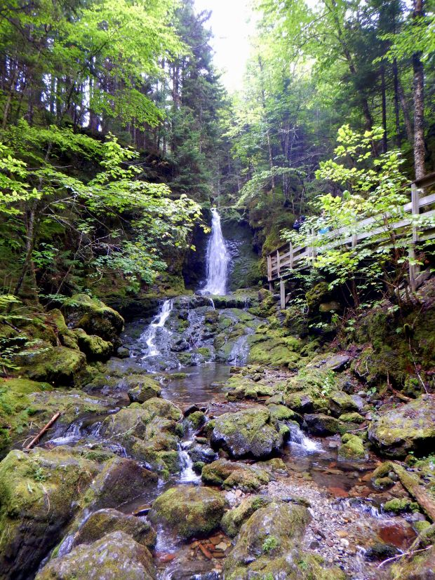 Dickinson Falls, Dickinson Falls Trail, Fundy National Park, New Brunswick, Canada