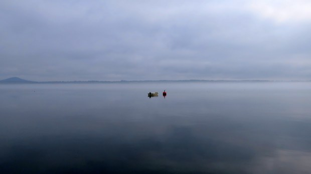 Passamoquoddy Bay in the fog, Maine