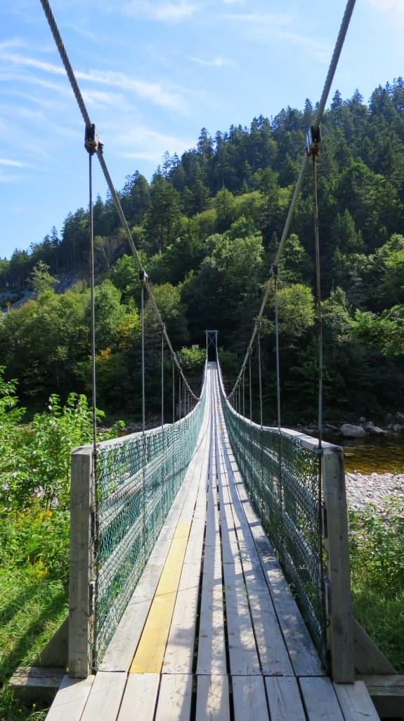 Suspension Bridge, Fundy Trail, New Brunswick, Canada