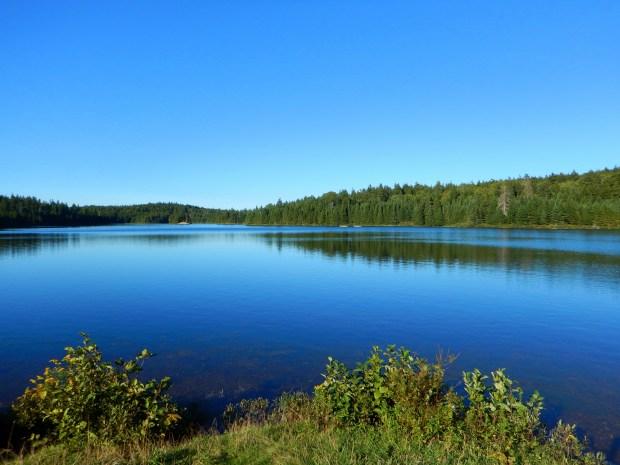 Swimming in Bennett Lake, Fundy National Park, New Brunswick, Canada