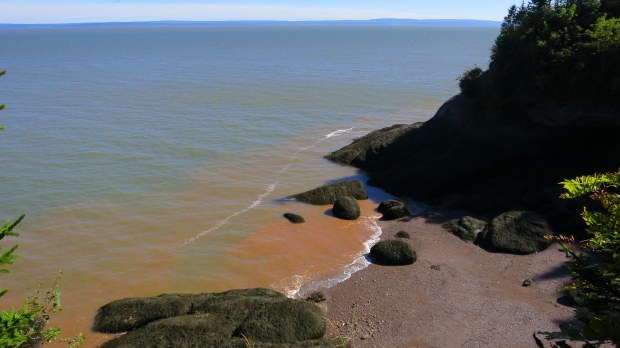 Exposed cove at lower tide, Coastal Trail, Fundy National Park, New Brunswick, Canada