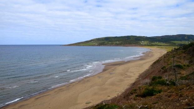 View of beach from Western Coastal Trail, West Mabou Beach Provincial Park, Nova Scotia, Canada