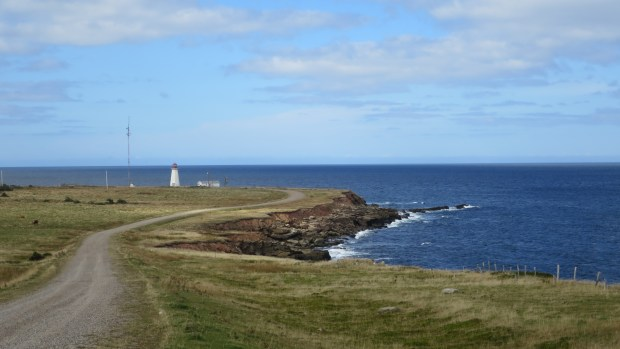 Road to Enragee Point Lightstation, Cheticamp Island, Nova Scotia, Canada