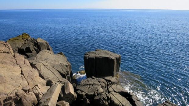 Columnar basalt near Balanced Rock, Long Island, Nova Scotia, Cana