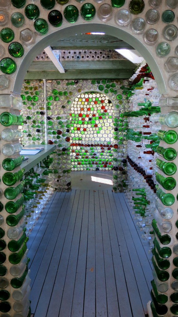 Interior of bottle house, Prince Edward Island, Canada
