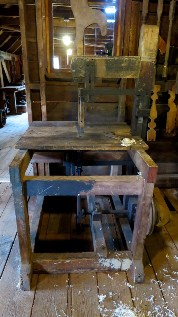 Bandsaw, Sutherland Steam Mill Museum, Denmark, Nova Scotia, Canada