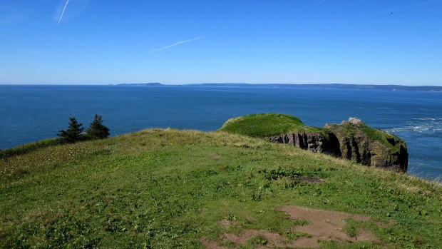Headland, Cape Split Trail, Cape Split Provincial Park, Nova Scotia, Canada