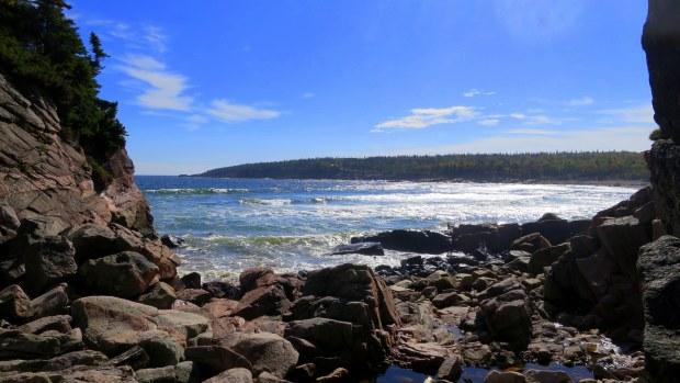 Looking out at Black Brook Cove, Cape Breton Highlands National Park, Nova Scotia, Canada