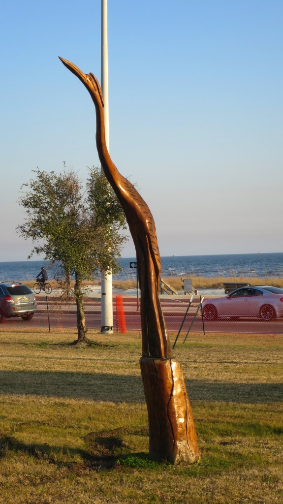 Wood sculpture, Highway 90, Biloxi, Mississippi