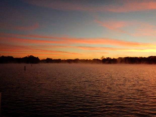 Colors and mist, Crystal River National Wildlife Refuge, Florida