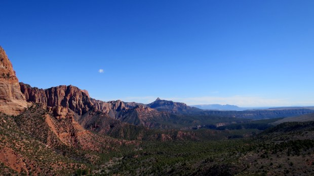 View from the end of the trail, Timber Creek Overlook Trail, Kolob Canyon, Zion National Park, Utah