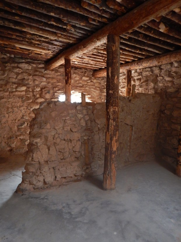 Inside the second story of the pueblo, Tuzigoot National Monument, Arizona