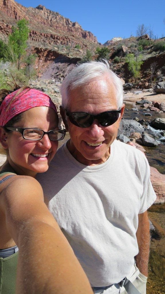 Tom and I, La Verkin Creek Canyon, Zion National Park, Utah