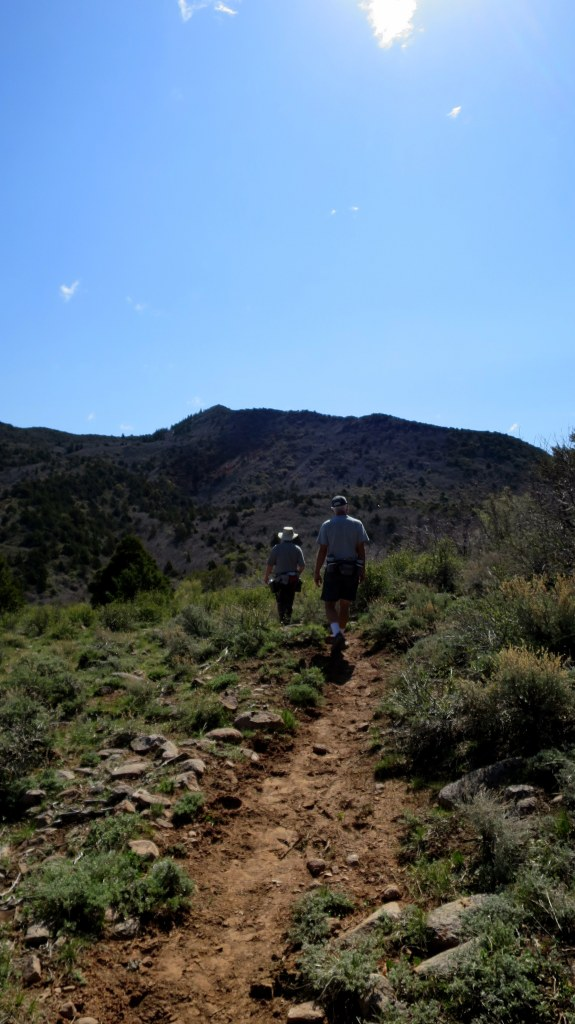 Tom and Terry on the Duncan Springs Trail, Dixie National Forest, Utah