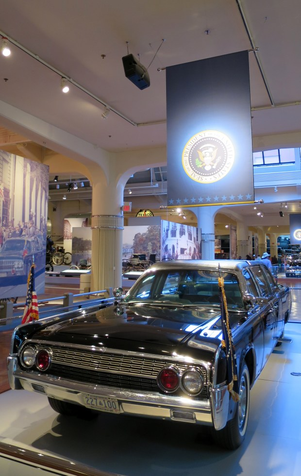 The 1961 Lincoln Continental in which JFK was assassinated, The Henry Ford, Dearborn, Michigan