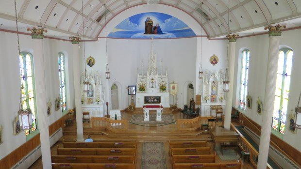 Interior Saint Anne Church, Mackinac Island, Michigan