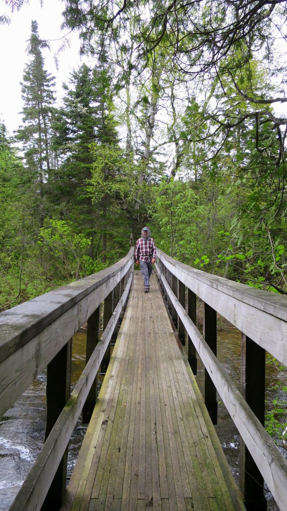 Crossing the Baldhead River, Orphan Lake Trail, Lake Superior Provincial Park, Ontario, Canada