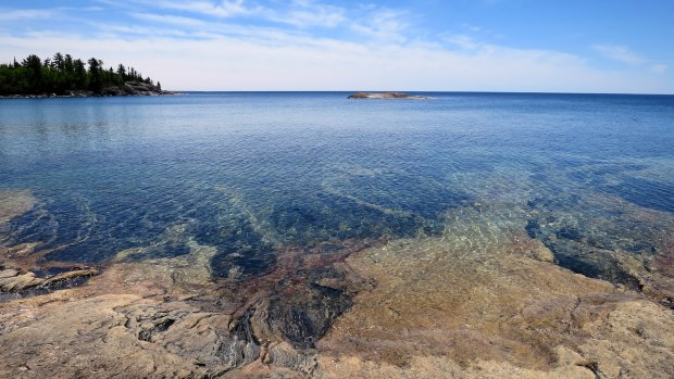 Gneiss, Katherine Cove, Lake Superior Provincial Park, Ontario, Canada