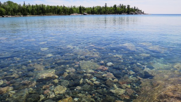 Another view of the incredibly clear waters, Katherine Cove, Lake Superior Provincial Park, Ontario, Canada