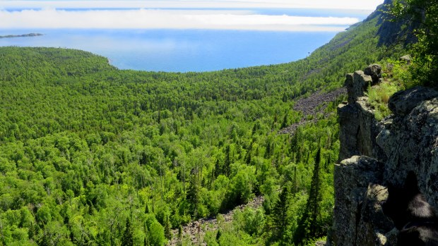 View from the top, Top of the Giant Trail, Sleeping Giant Provincial Park, Ontario, Canada