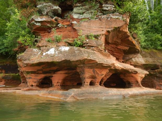 Awesome erosion, Apostle Islands National Lakeshore, Wisconsin