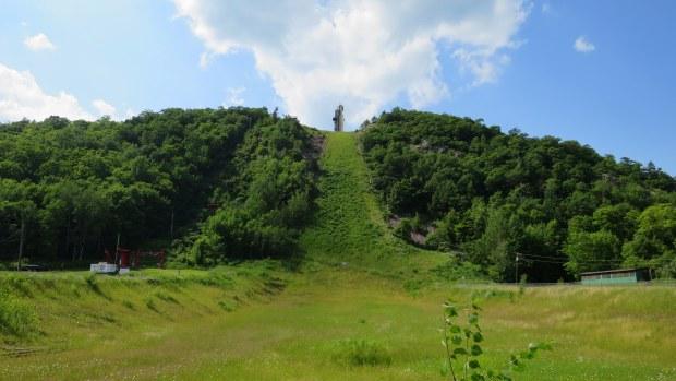 Ski jumping hill from out-run, Copper Peak Ski Flying Hill, Michigan