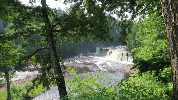 Manabezho Falls, West River Trail, Porcupine Mountains Wilderness State Park, Michigan