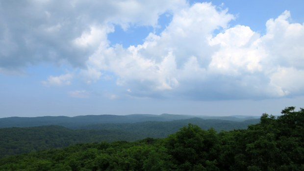 View from tower at Summit Peak Scenic Area, Porcupine Mountains Wilderness State Park, Michigan