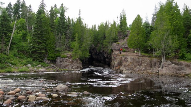 Mouth of the gorge, Temperance River Gorge Trail, Temperance River State Park, Minnesota