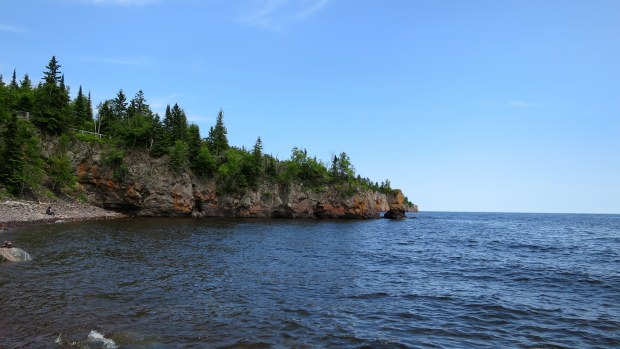 Walking upriver to the falls, Tettegouche State Park, Minnesota