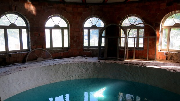 Basement swimming pool, Boldt Castle, Thousand Islands Region, New York