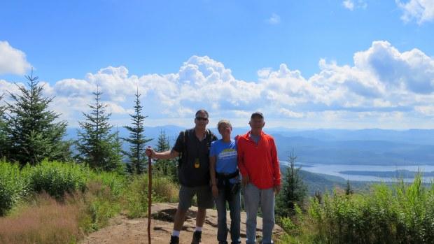 Robert, Tom, and I at top of Snowy Mountain, Adirondacks, New York