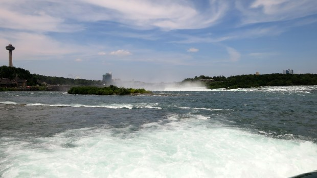 Walking above Niagara Falls, Ontario, Canada