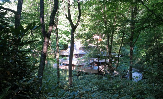 Fallingwater from above, Mill Run, Pennsylvania