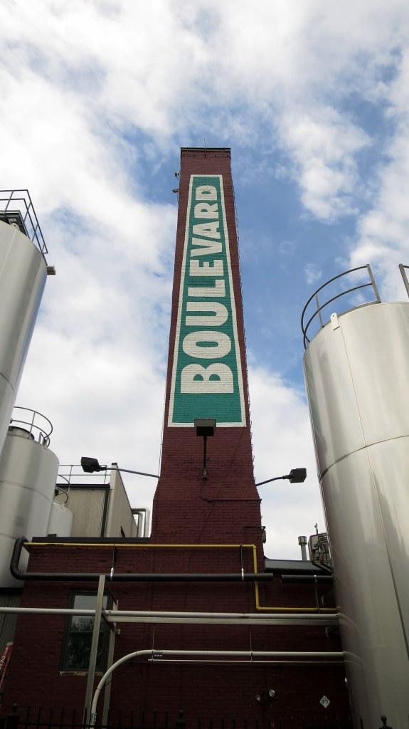 The smokestack, Boulevard Brewery, Kansas City, Missouri