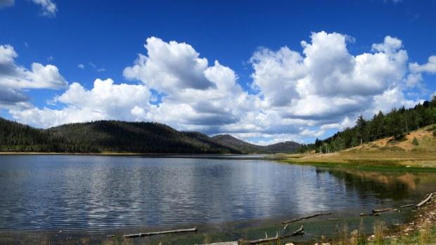 Navajo Lake from the dike, Navajo Lake Loop Trail, Dixie National Forest, Utah