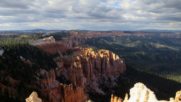 Dark clouds over Rainbow Point, Bryce Canyon National Park, Utah