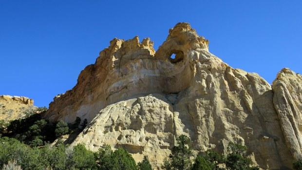 Backside of Grosvenor Arch, Grand Staircase-Escalante National Monument, Utah