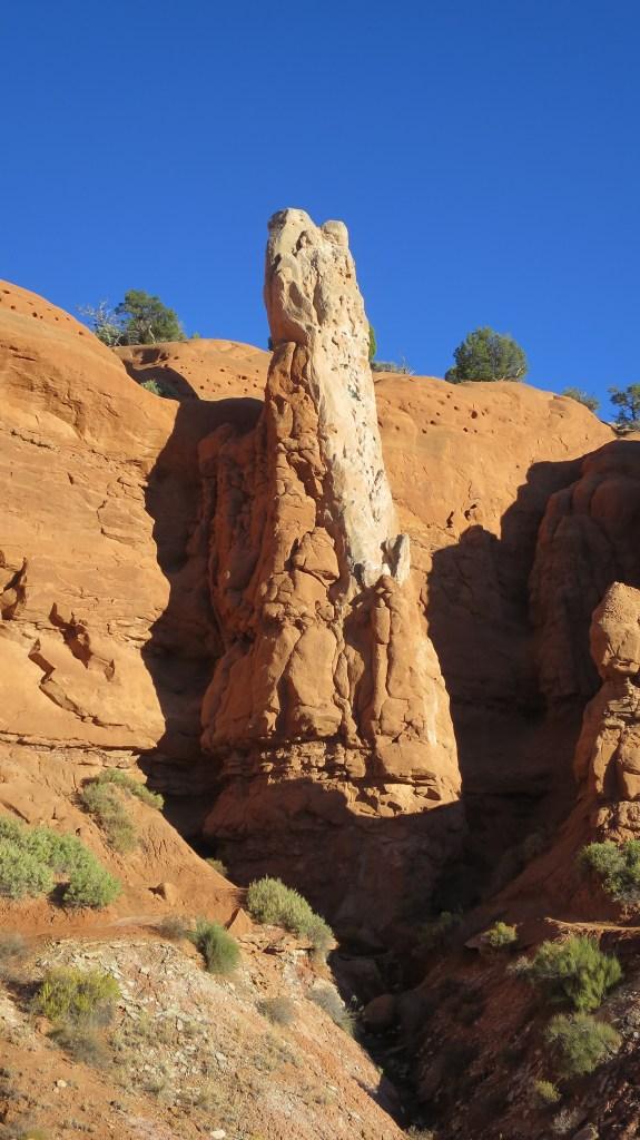 Sandstone spire or pipe on Sentinel Trail, Kodachrome Basin State Park, Utah