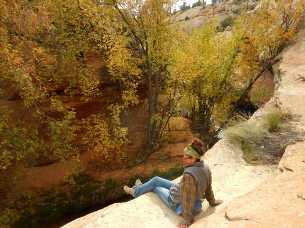 Sittin' on the canyon rim, Burr Trail, Grand Staircase-Escalante National Monument, Utah