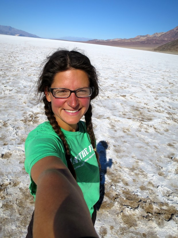Me at the salt flats, Badwater Basin, Death Valley National Park, California